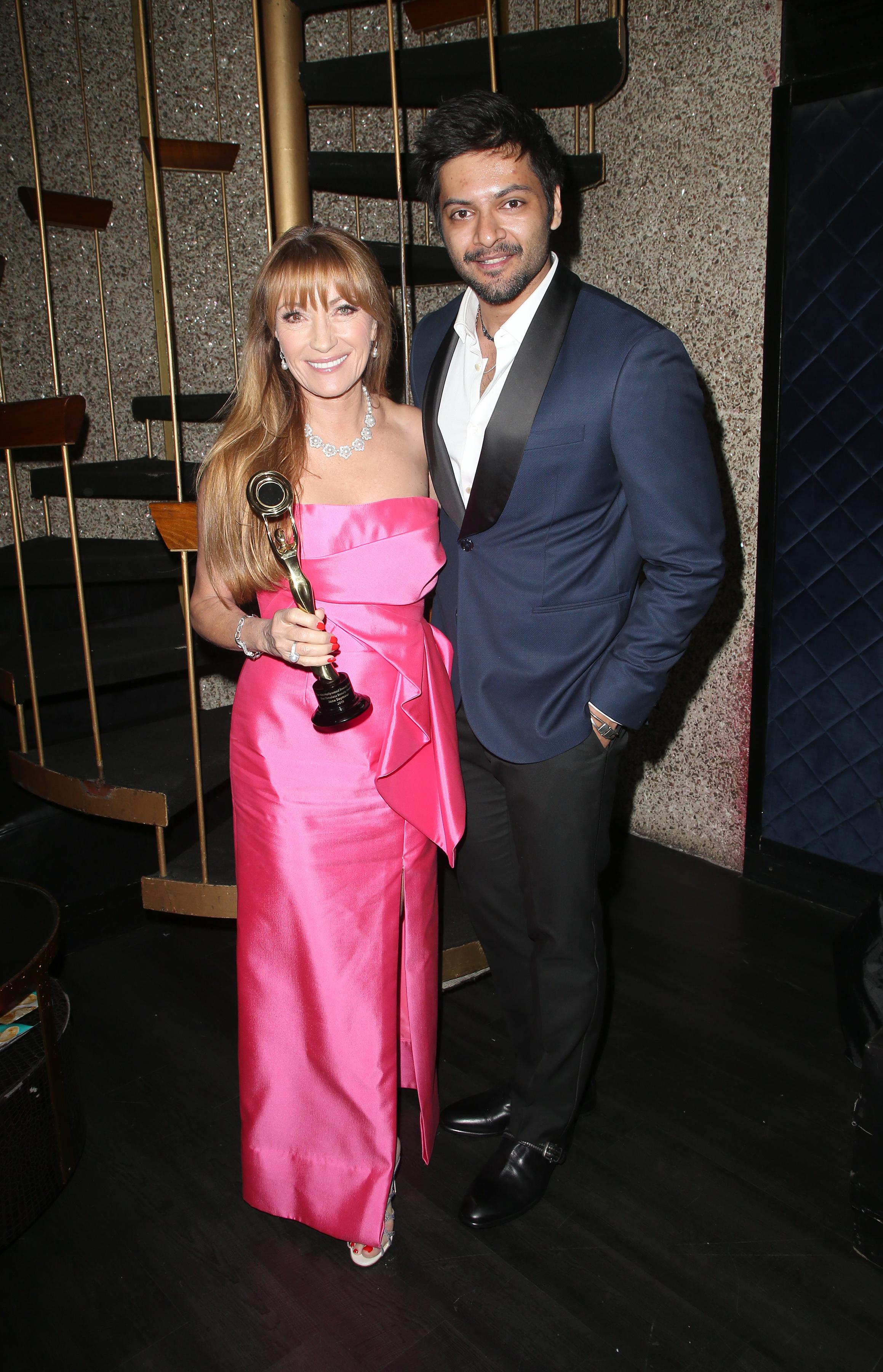 Jane Seymour and Ali Fazal | Feb 25, 2018, Hollywood Beauty Awards held at the Avalon