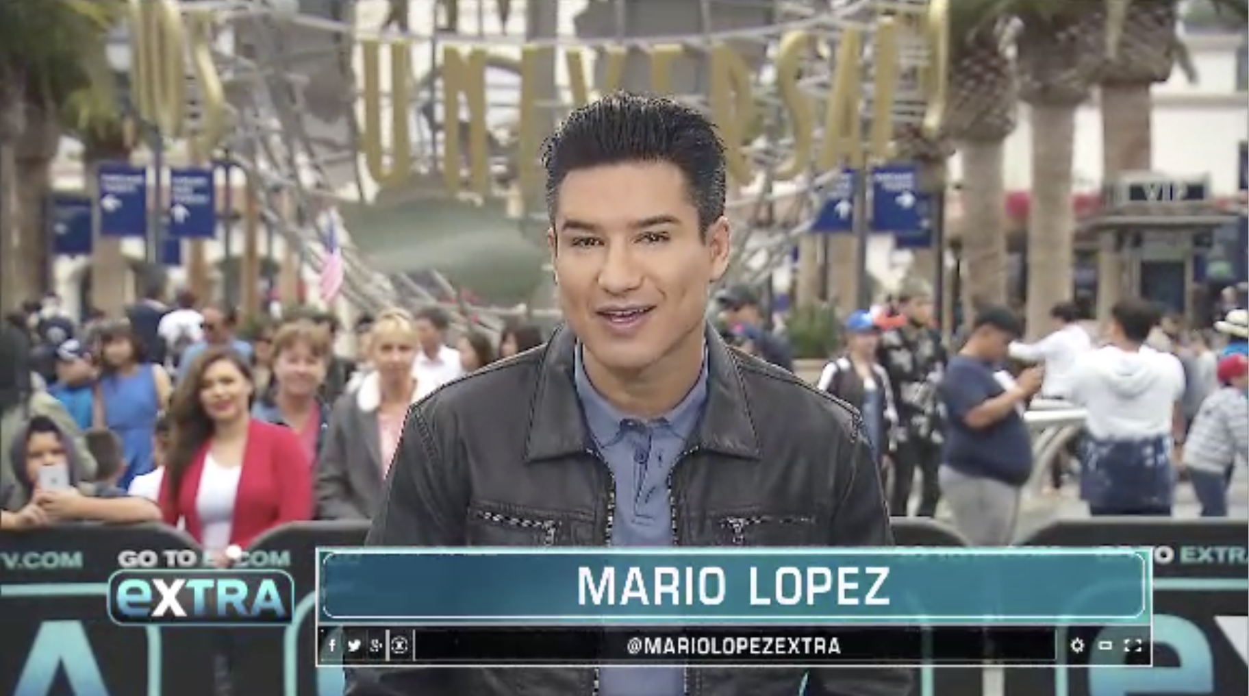 Mario Lopez at Extra Tv