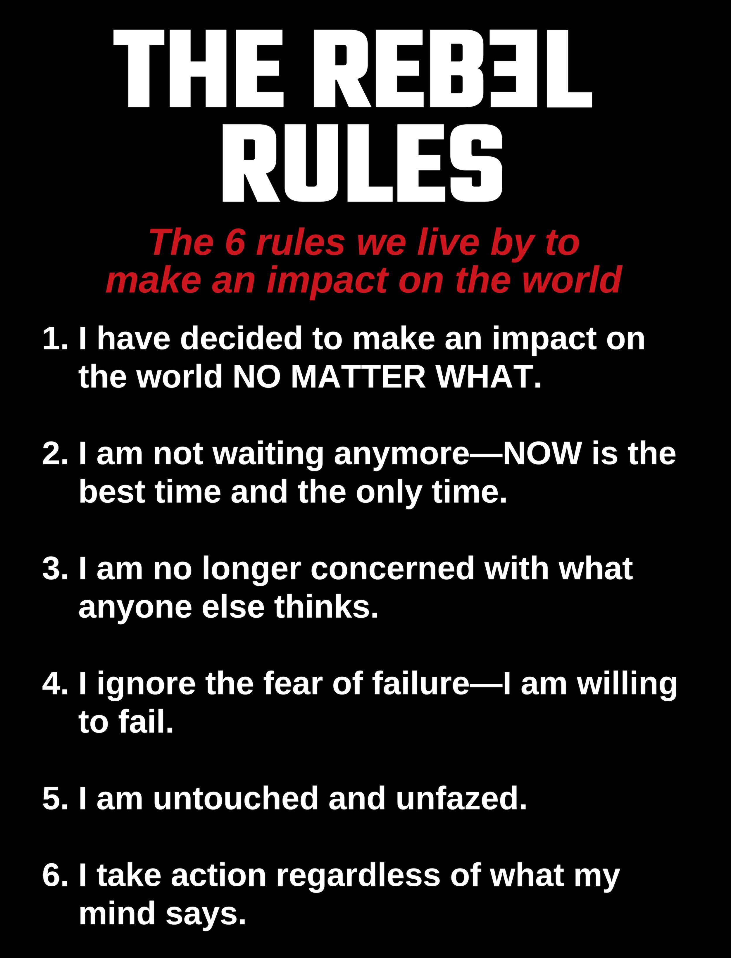 Rebel Rules for life coaching, life coaches, life coach school, life coach certification
