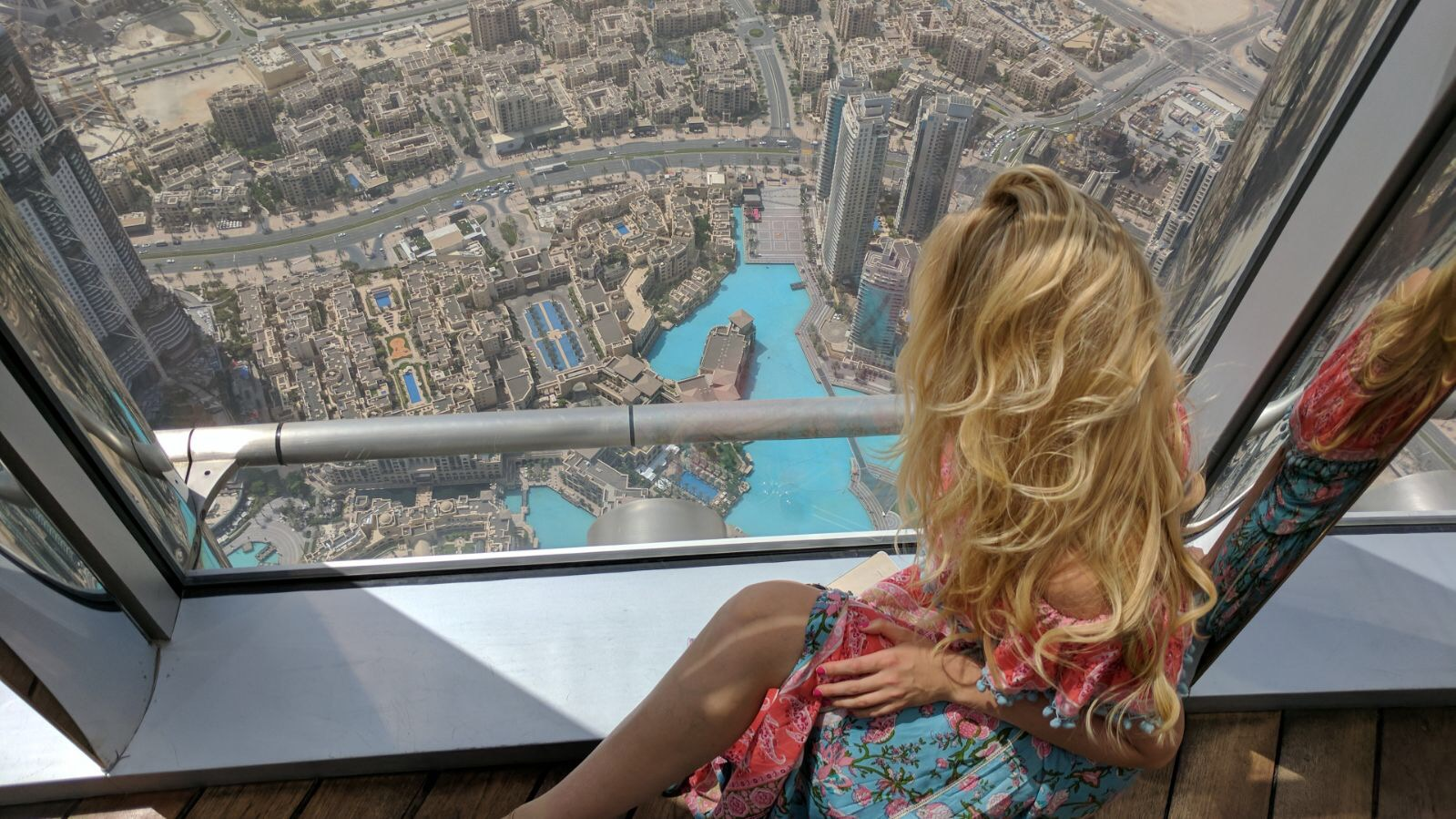 view from the Burj