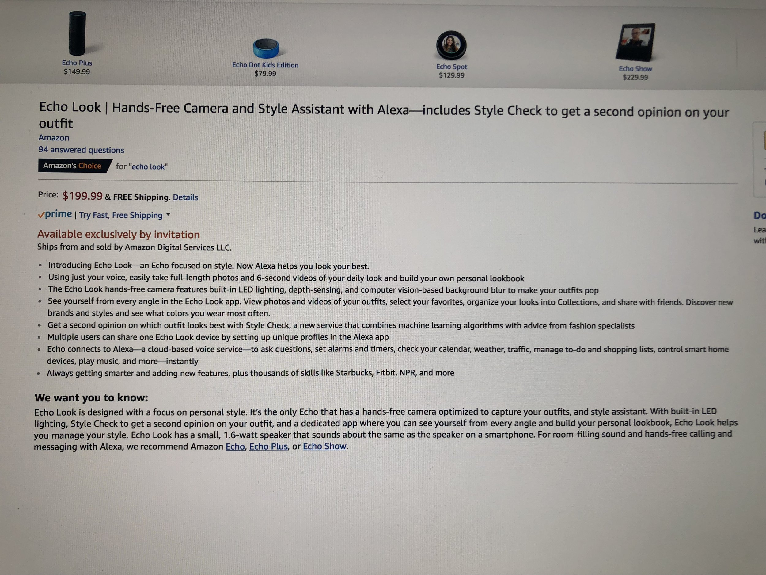 Amazon Echo Look Review
