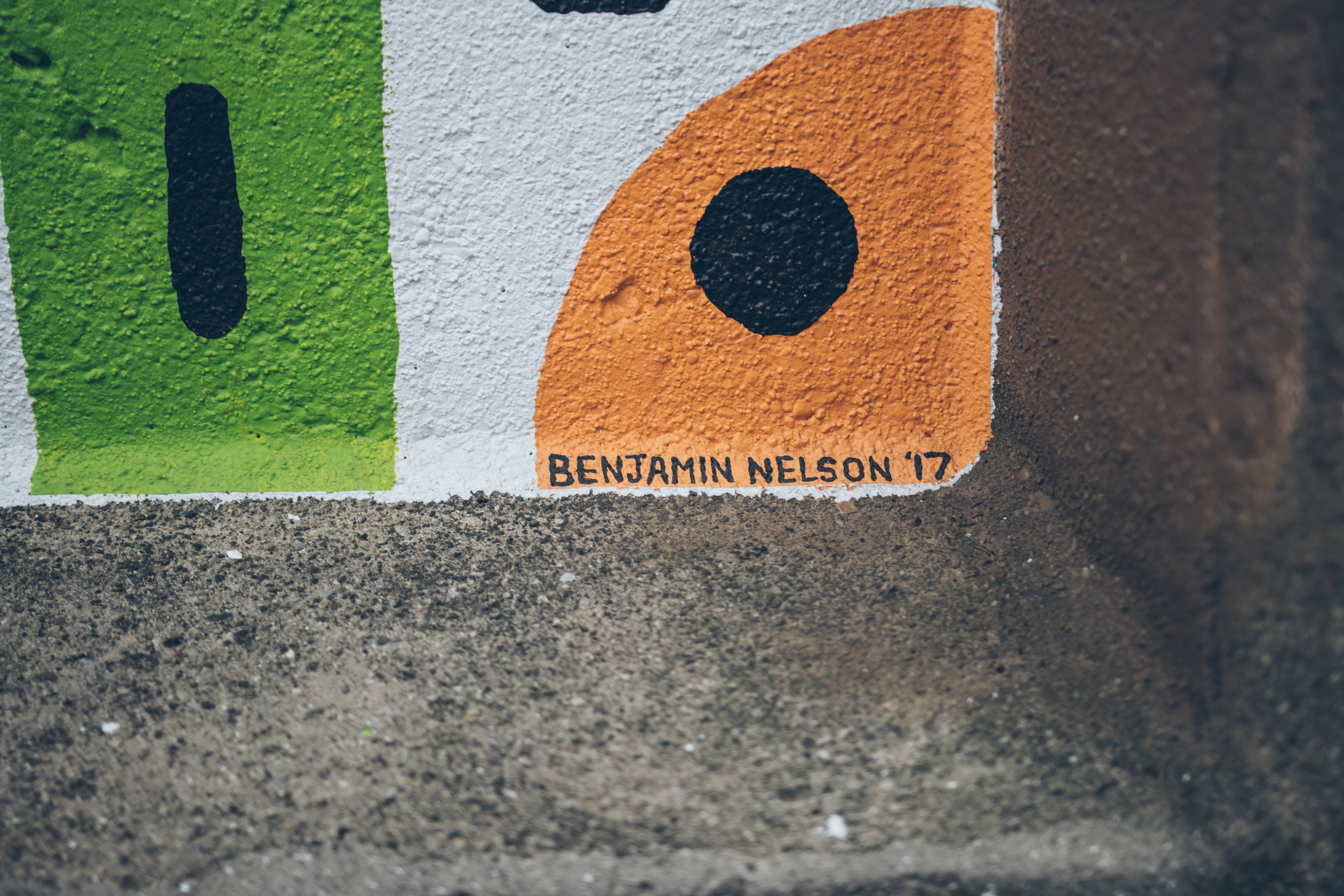 Mural in Oak Park IL, painted by Benjamin Nelson.