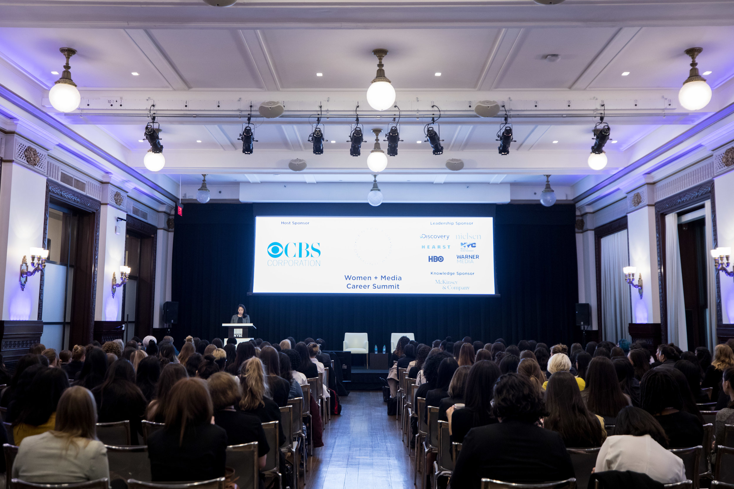 The New York Stock Exchange CBS Corporation for the Woman in Media Event.