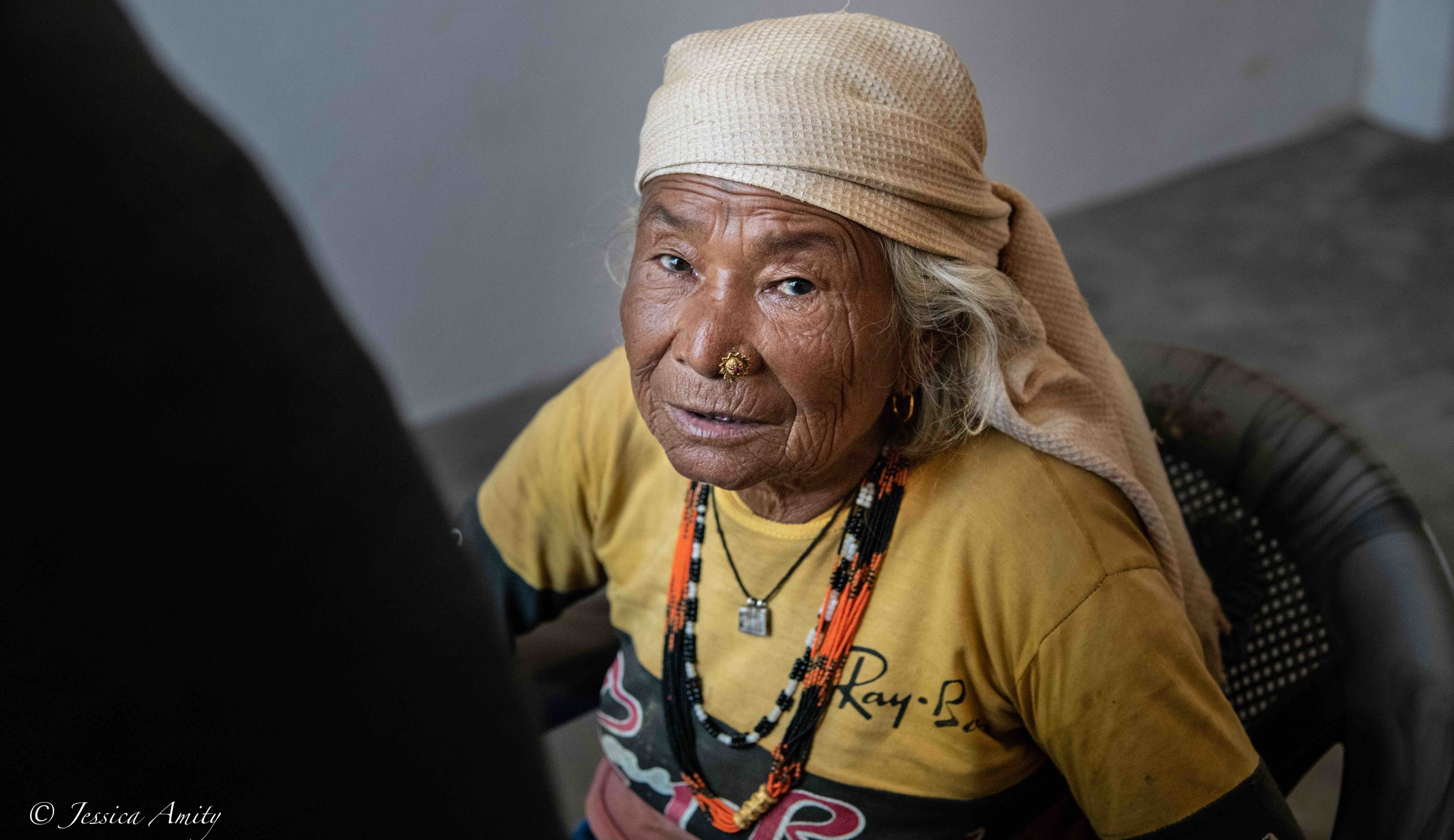 One of the land owners. She and her husband donated some of their land to Jay Nepal International for the construction of the medical centre last June.