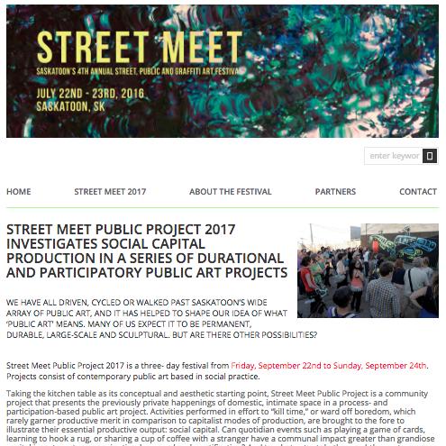 2015-2016: Street Meet: Saskatoon's, Street, Public and Graffiti Art Festival