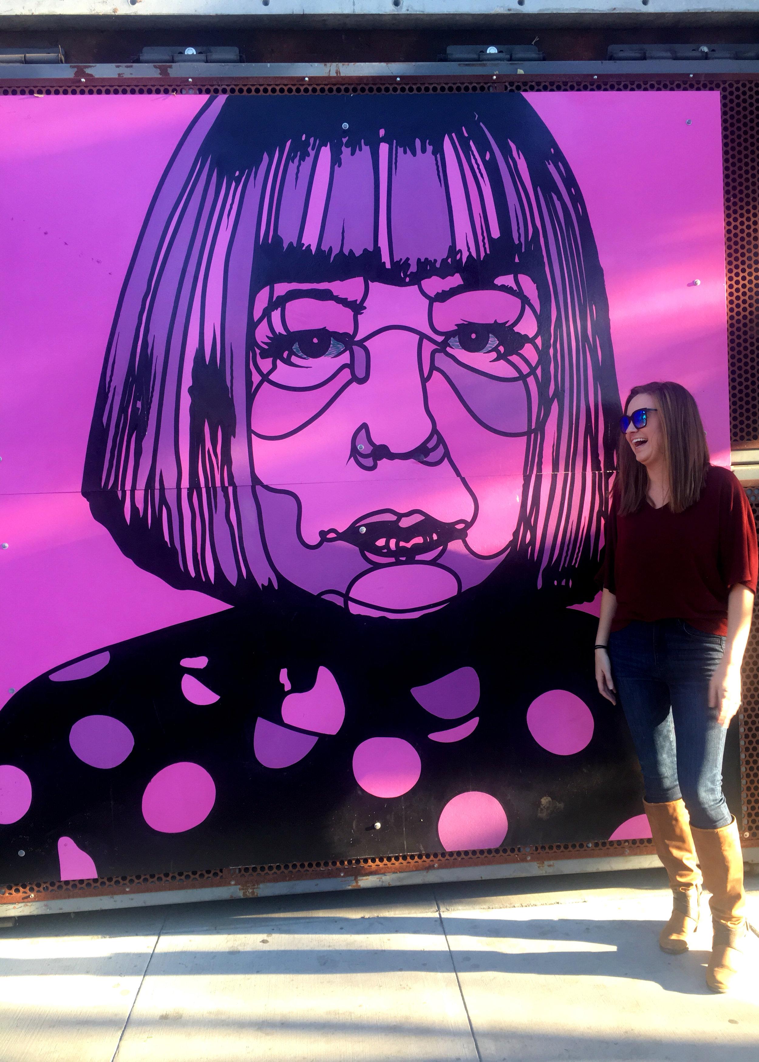 Santa Barbara wall art outfit photo
