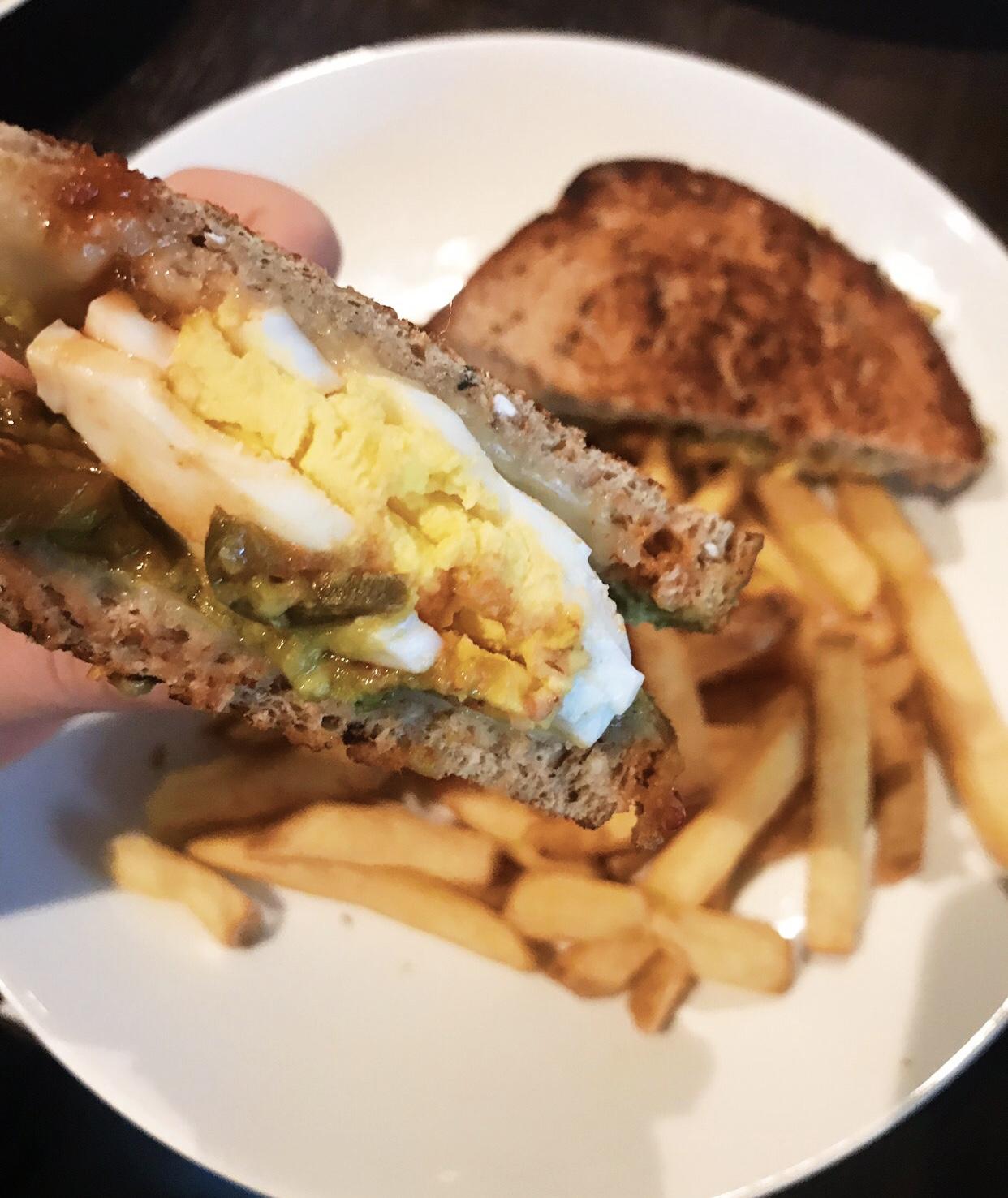 Spicy Avocado & Chopped Egg Sandwich