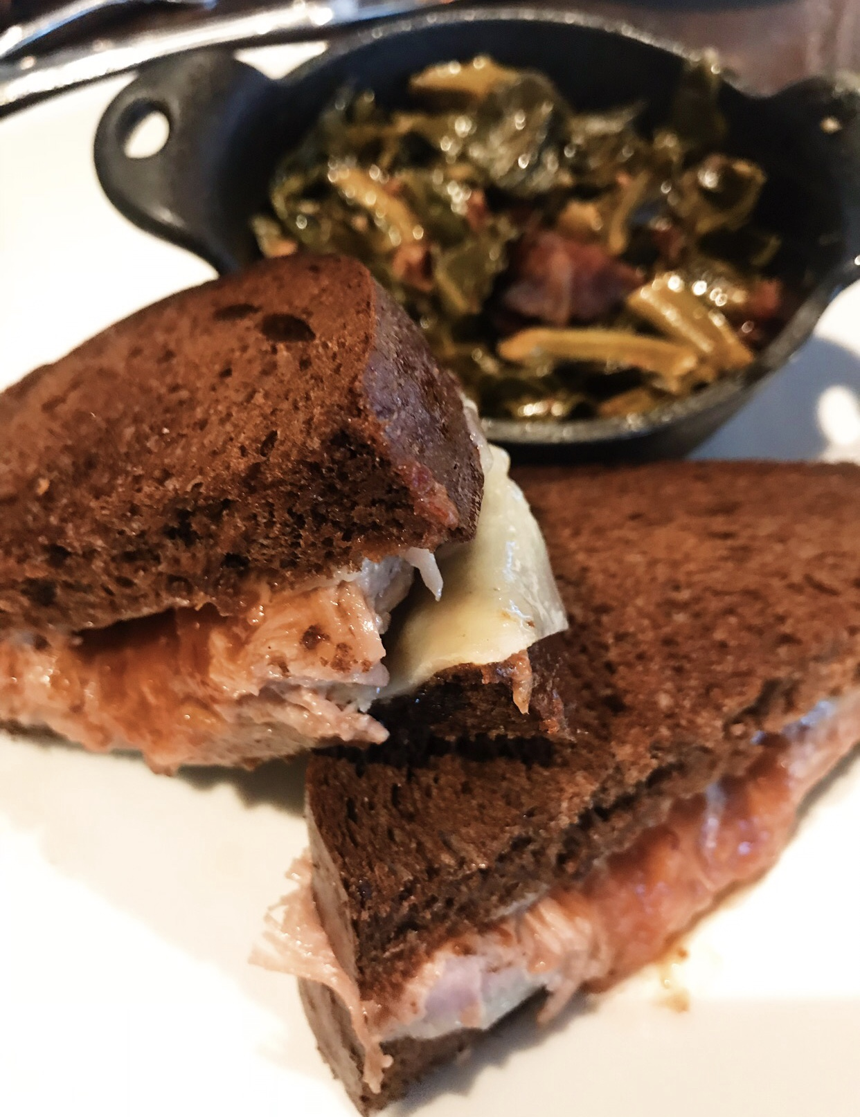 Slow-Roasted Pork Grilled Cheese