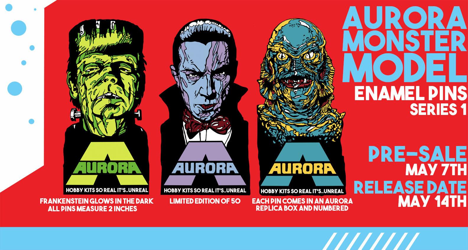 Frankenstein /& Bride Enamel Pin Set NEW Universal Glow In The Dark Horror Love