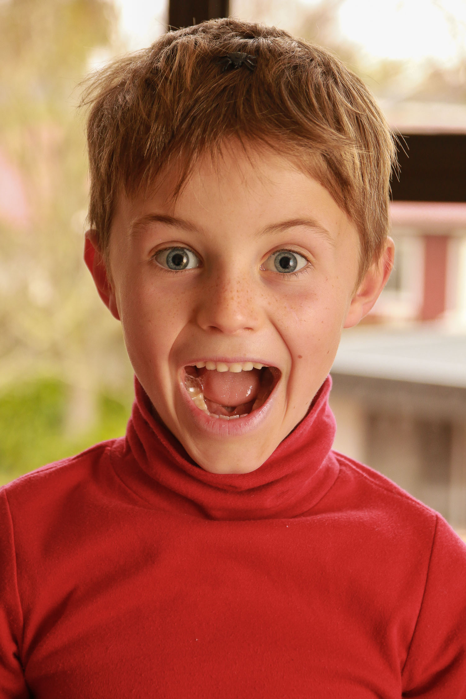 boy-wearing-red-holding-his-head-blue-eyes-mouth-open