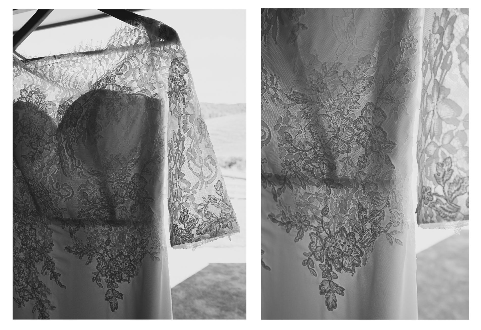 wedding dress details