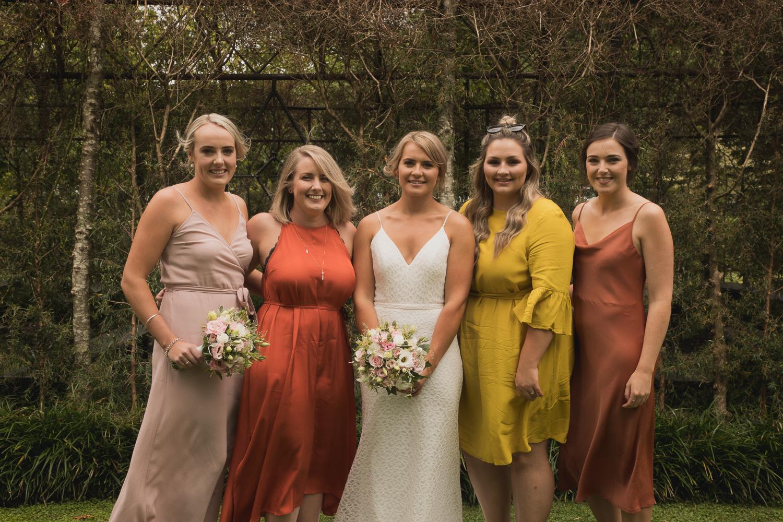 Ohaupo Tree Church wedding girlfriends with bride