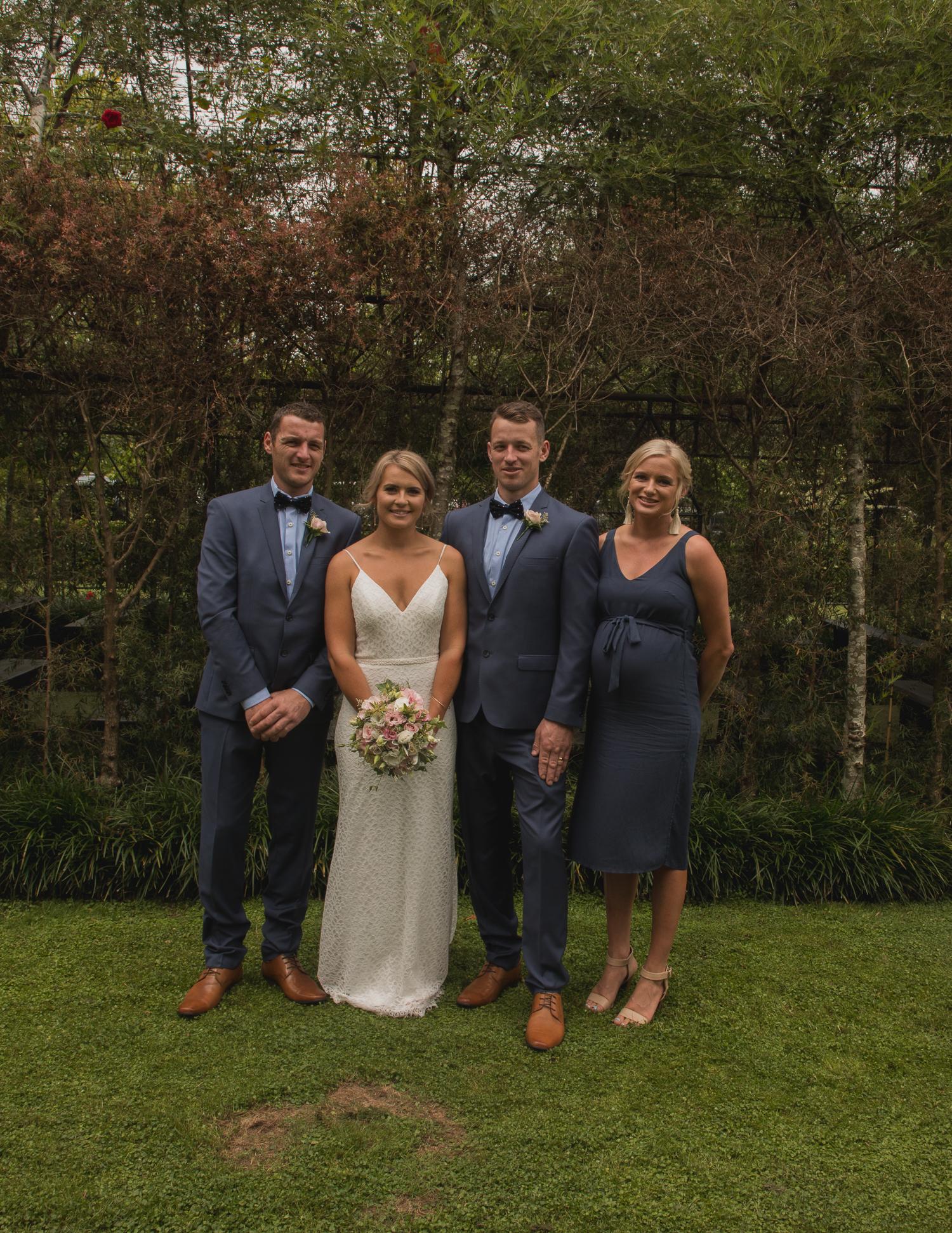 Ohaupo Tree Church wedding family photos
