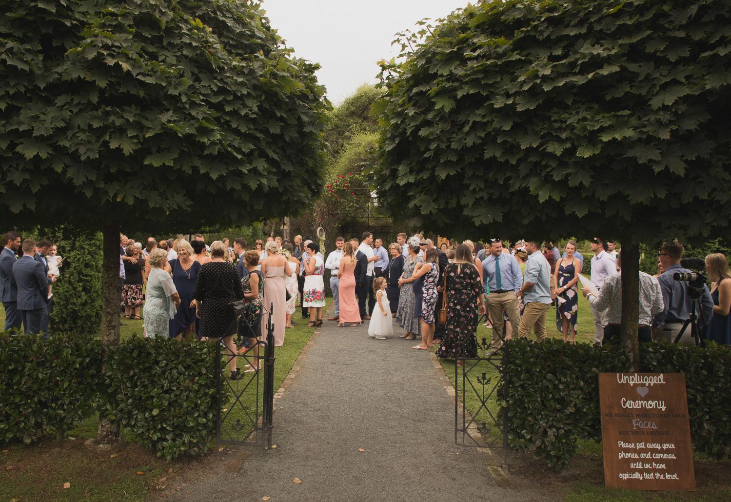 Ohaupo Tree Church wedding