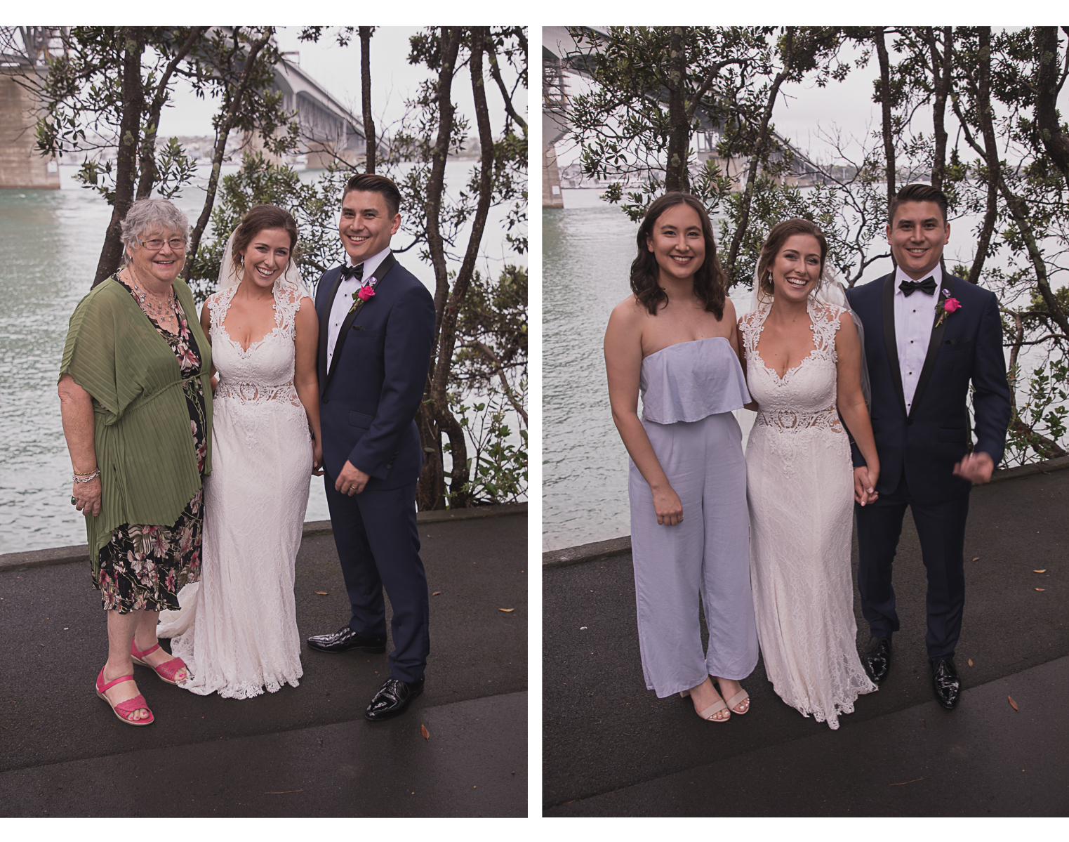 photos with guests at wedding
