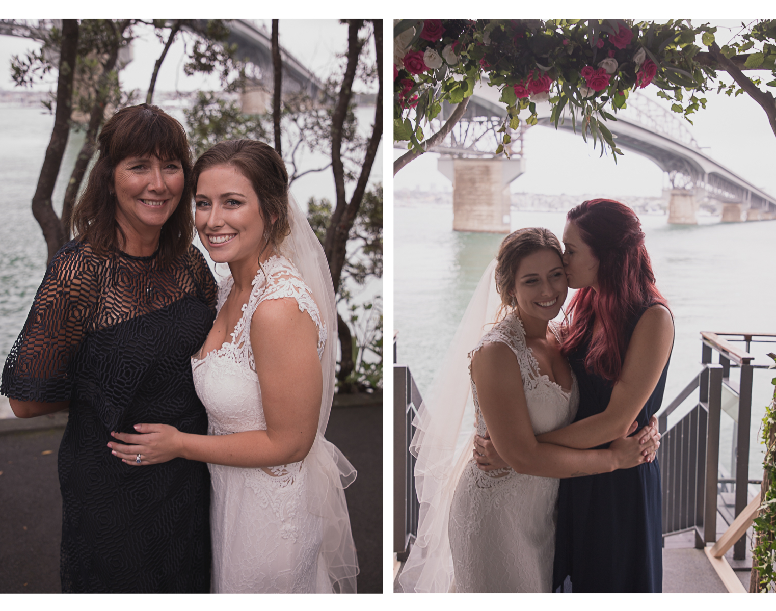 bride with mother and maid of honour