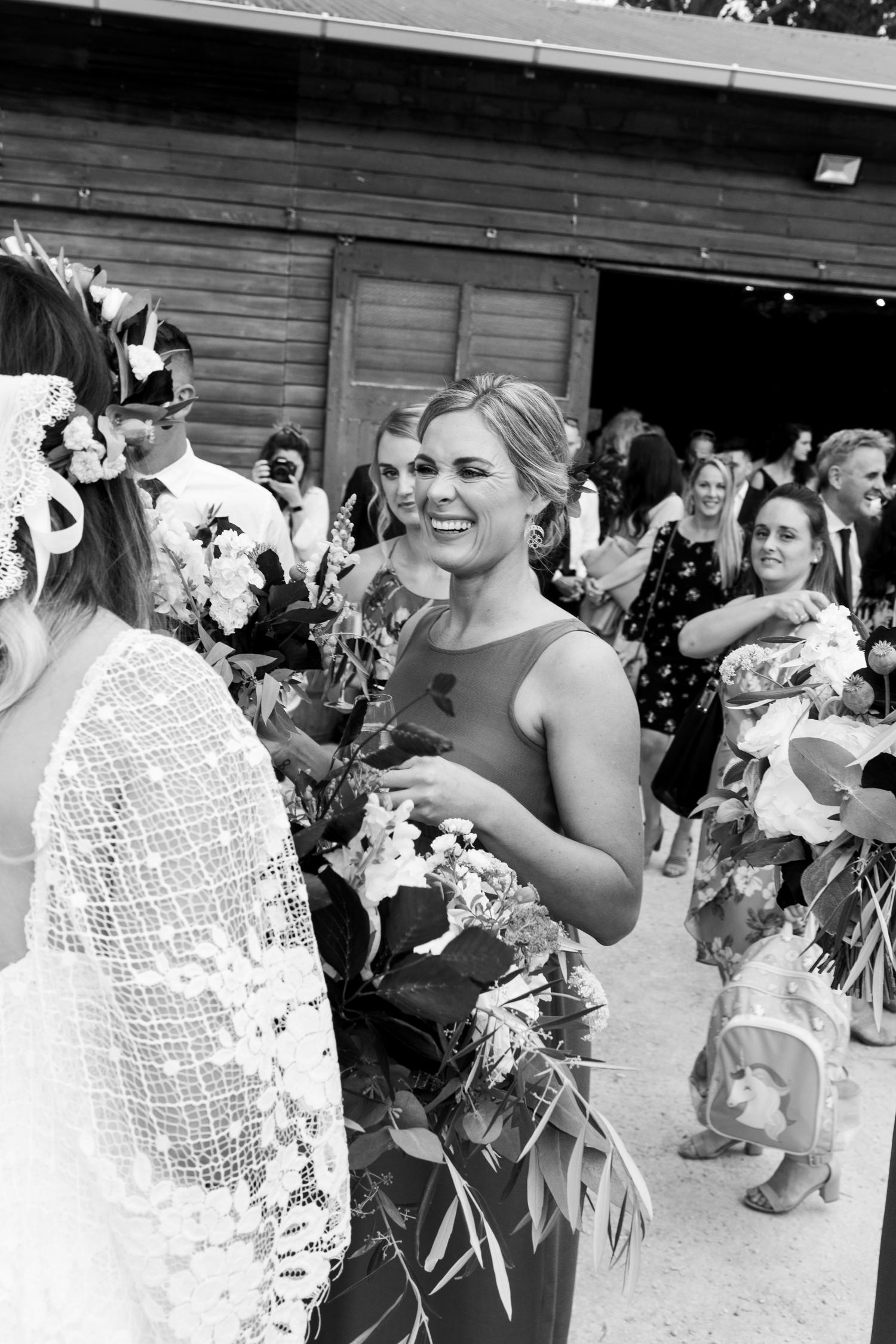 hawkes bay black barn wedding pregnant bride in grace loves lace dress