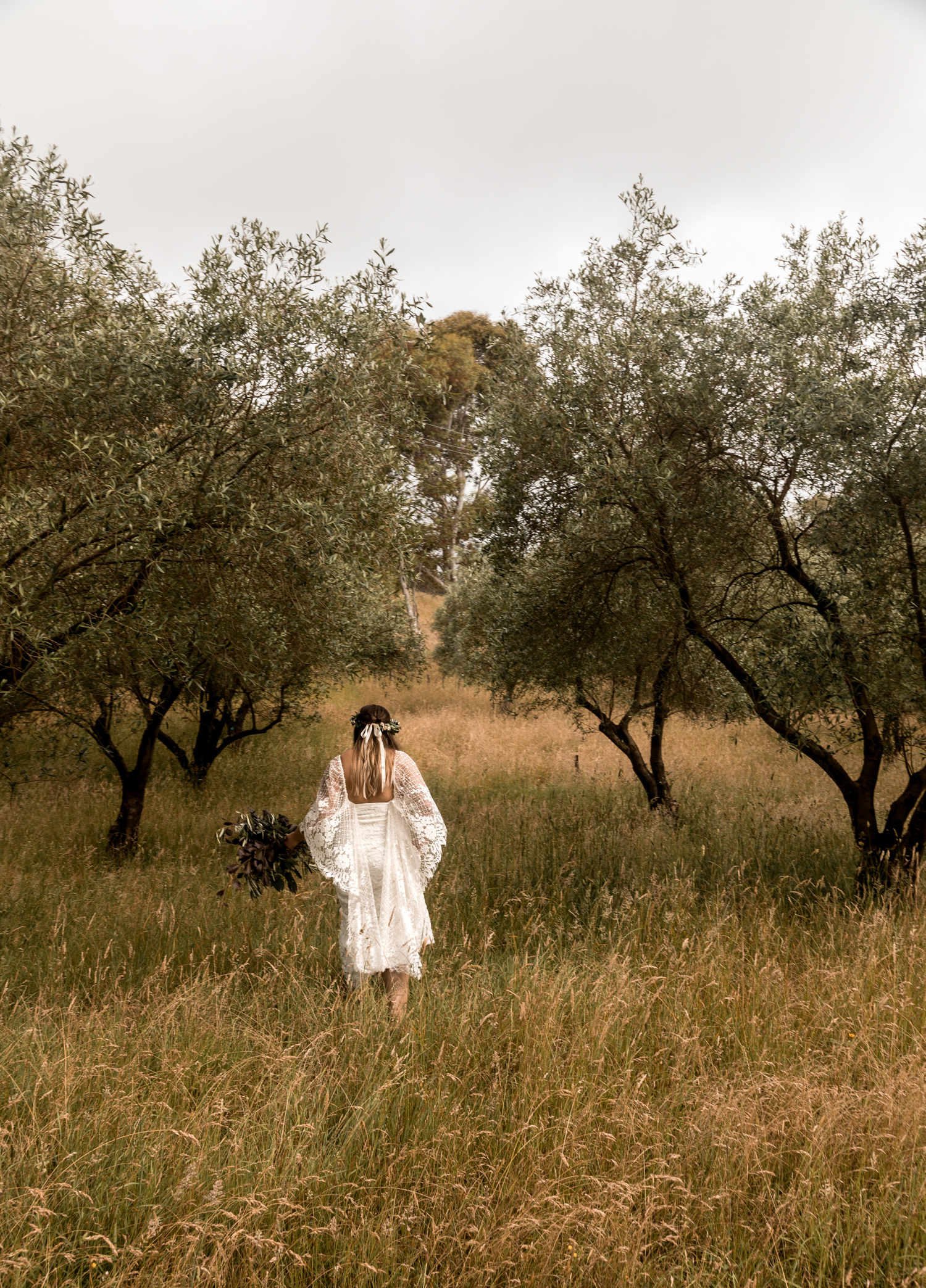 hawkes bay black barn wedding pregnant bride in grace loves lace dress in Olive Grove