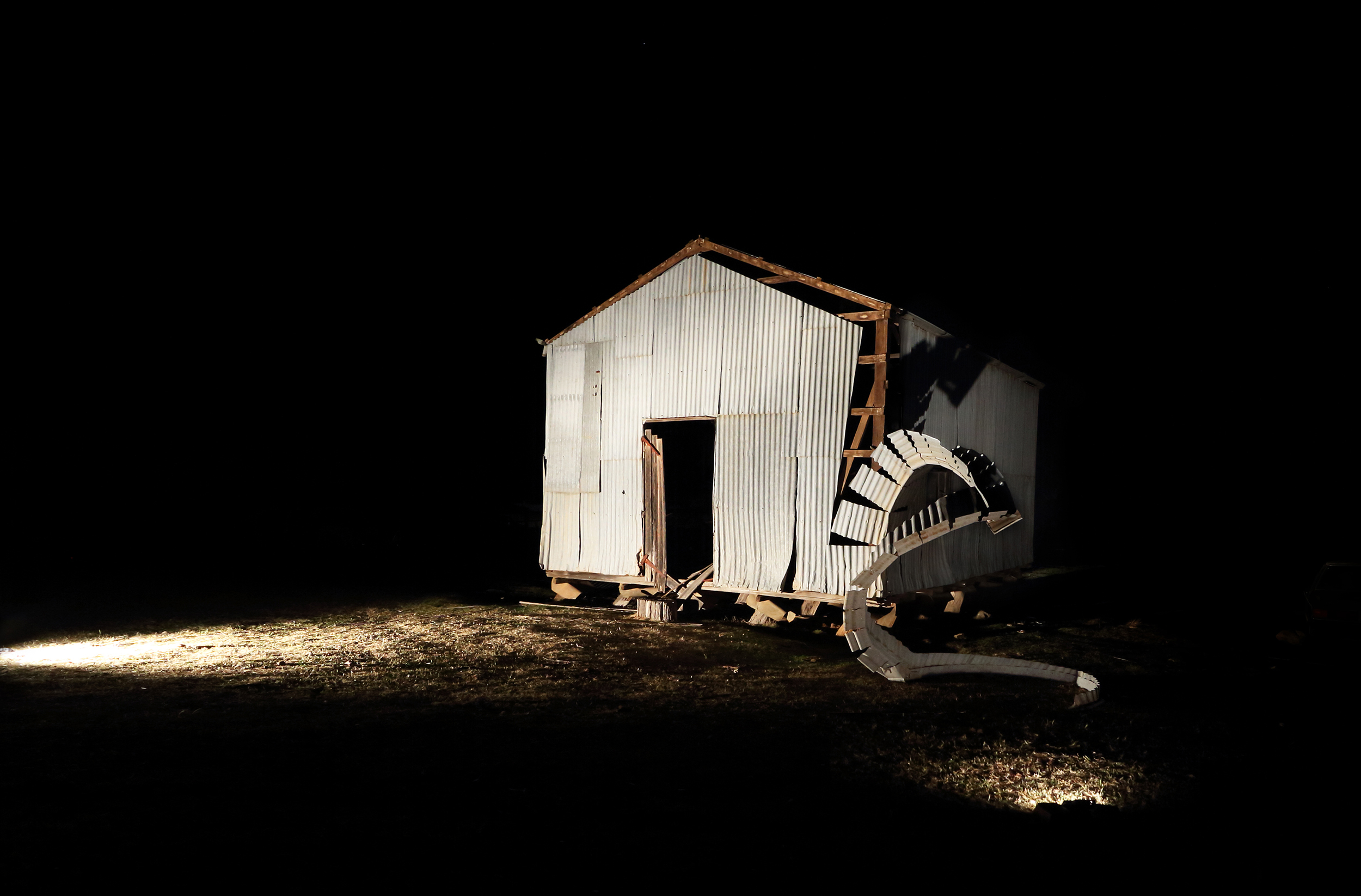 Fall to land - Shed cut - Wright Farm - 2014