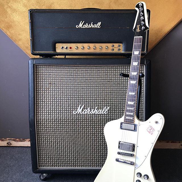 Sweet tones of a #marshalljmp and a #gibsonfirebird