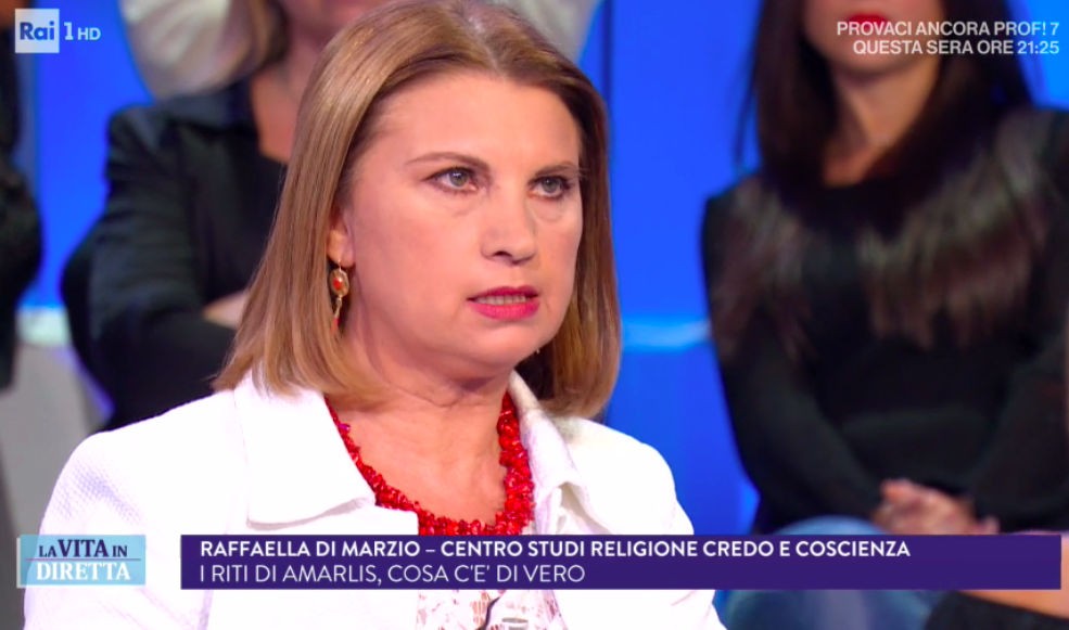 - Interview during the TV broadcast La Vita in Diretta, RAI 1, on 28 September, 2017 about the case of a Fringe Catholic Group. Watch the TV Broadcast