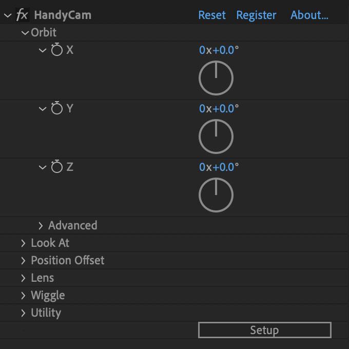 HandyCam Compact UI