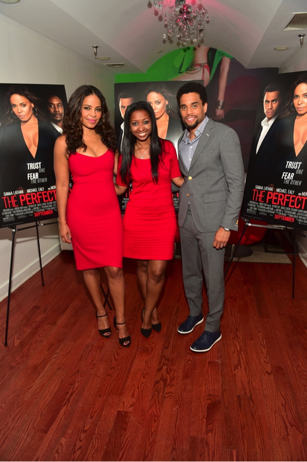Press dinner with Sanaa Lathan and Michael Ealy.
