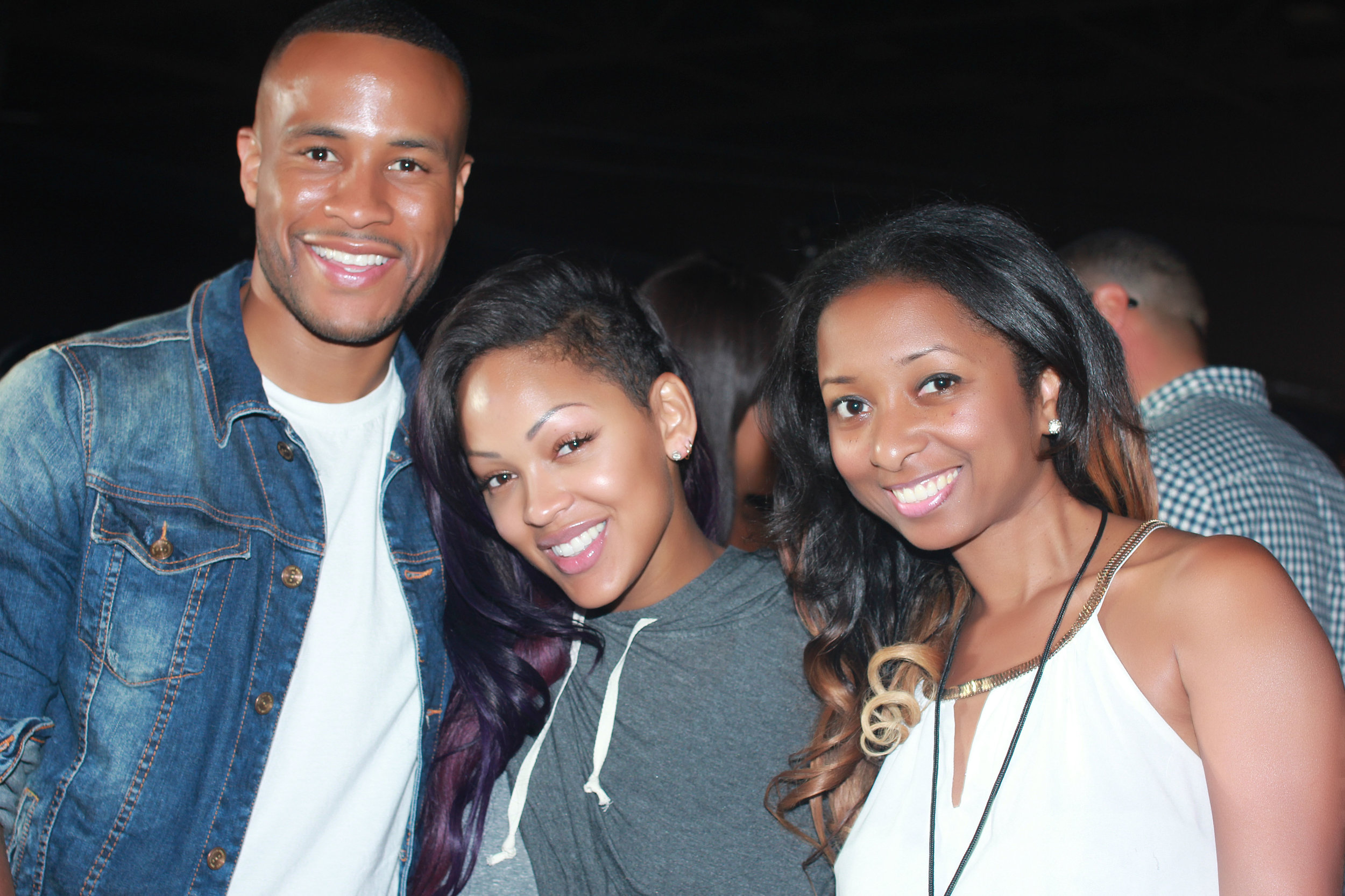 A Megafest moment with DeVon and Meagan Good Franklin.