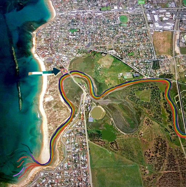 Laura Wills' artworks using City of Onkaparinga's mapping