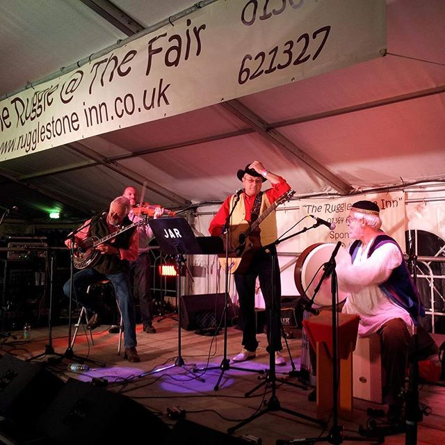 JAR at the Fair last year- looking forward to seeing them again on 12th Sept...! #folkatthefair #widecombefair #devon