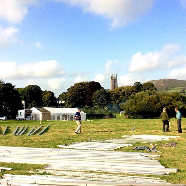 The marquees are going up! #widecombefair #september #devonlife