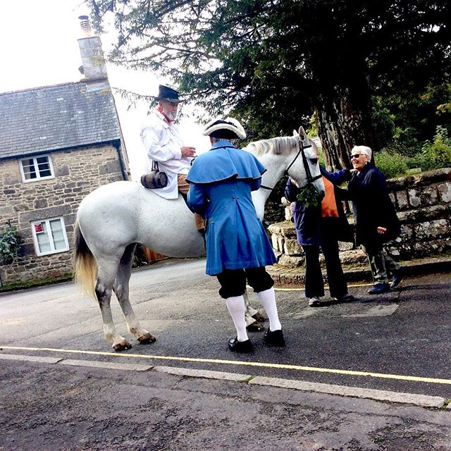 Uncle Tom on his grey mare! #uncletomcobley #widecombefair #widecombeinthemoor #dartmoorlife #moorlandlife #greymare #dayout