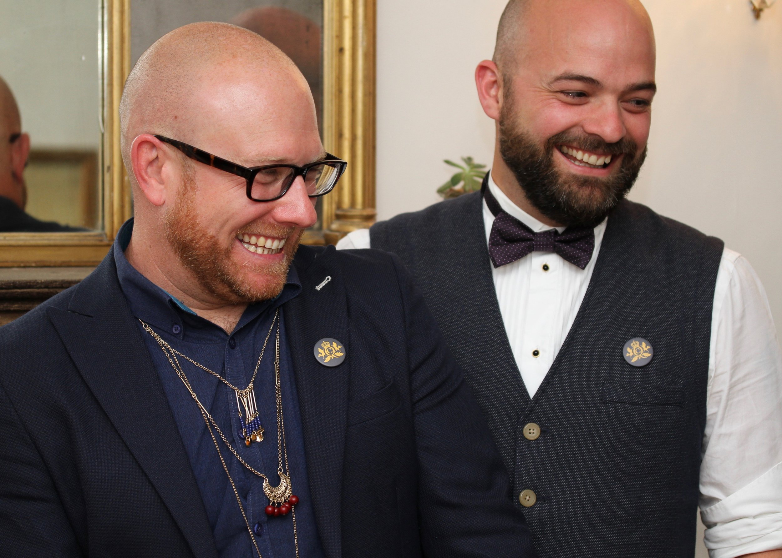 Q&C // Michael Newby (Left) Michael Wilson - Resident foodie at Q&C (Right)