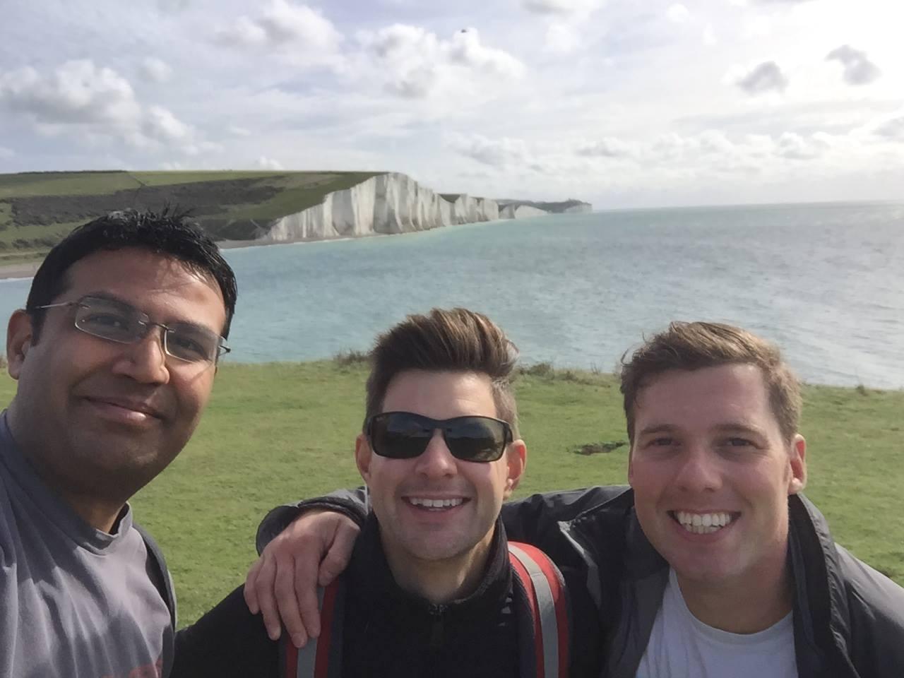 Q&C // (left) Pratik Malde, (centre) Matthew Clowery, (right) Ben Robinson, Seaford, East Sussex.