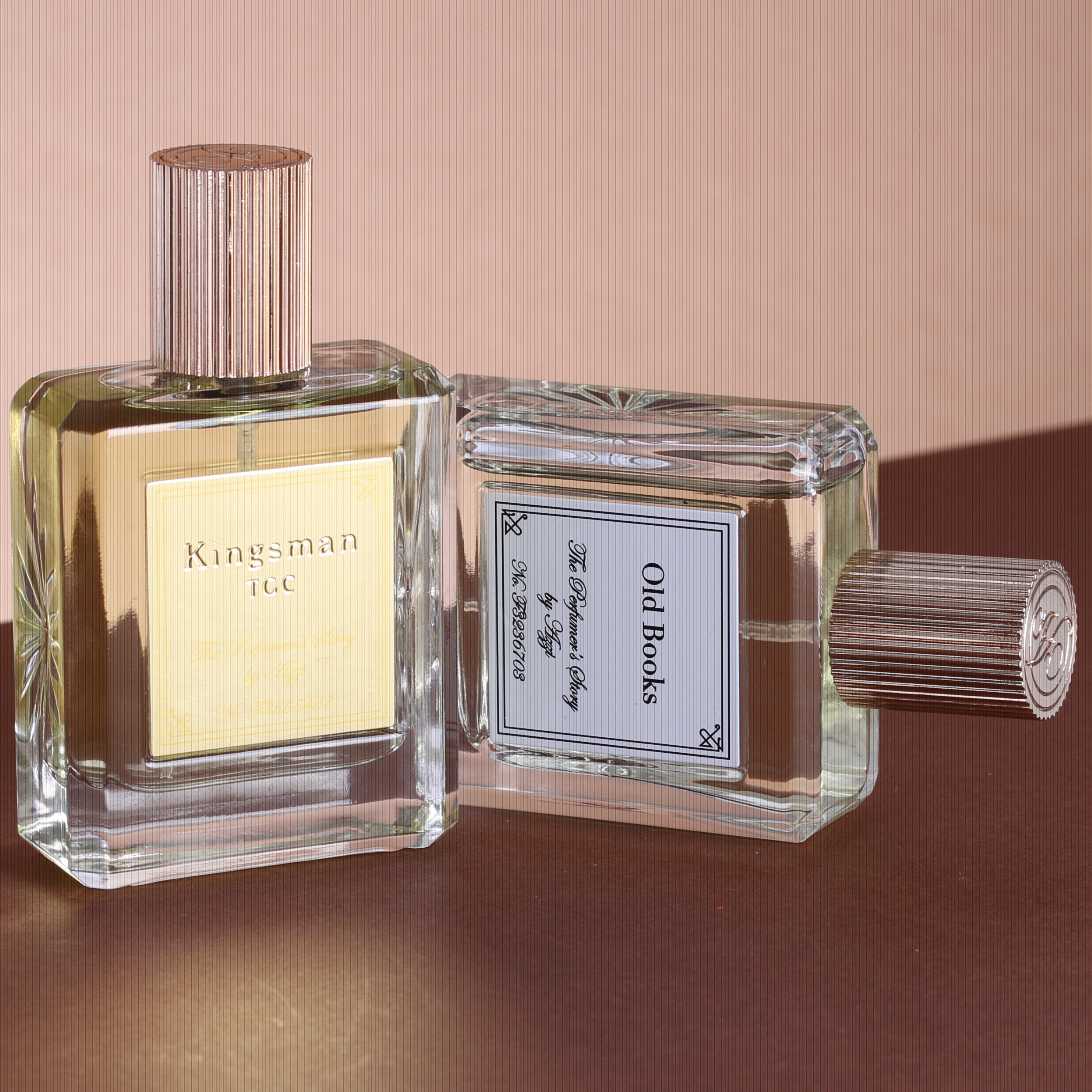 Kingsman TGC & Old Books - The Kingsman TGC - Based on the virtual DNA print of the Kingsman – this scent is elegant, provocative and intellectual. It opens with notes of English Earl Grey Tea and Neroli blended with the finest notes of Laurel Leaf and Elemi Oil, blended with hints of Clary Sage enveloped with delicious Rum, Tobacco flower and an overdose of Vetivert - the masculine scent of which evokes the rugged Southwest. With Black Oudh added, it has an addictive depth of strength, loyalty and charm that all desire.30ml £95.00Old Books -Old Books Eau De Parfum whispers to you when you wear it, and also to those around you by the incredible ingredients of frankincense, olibanum, myrrh, and elemi, contrasted with woody notes of patchouli, amber, vetivert and cedar.30ml £95.00theperfumersstory.com