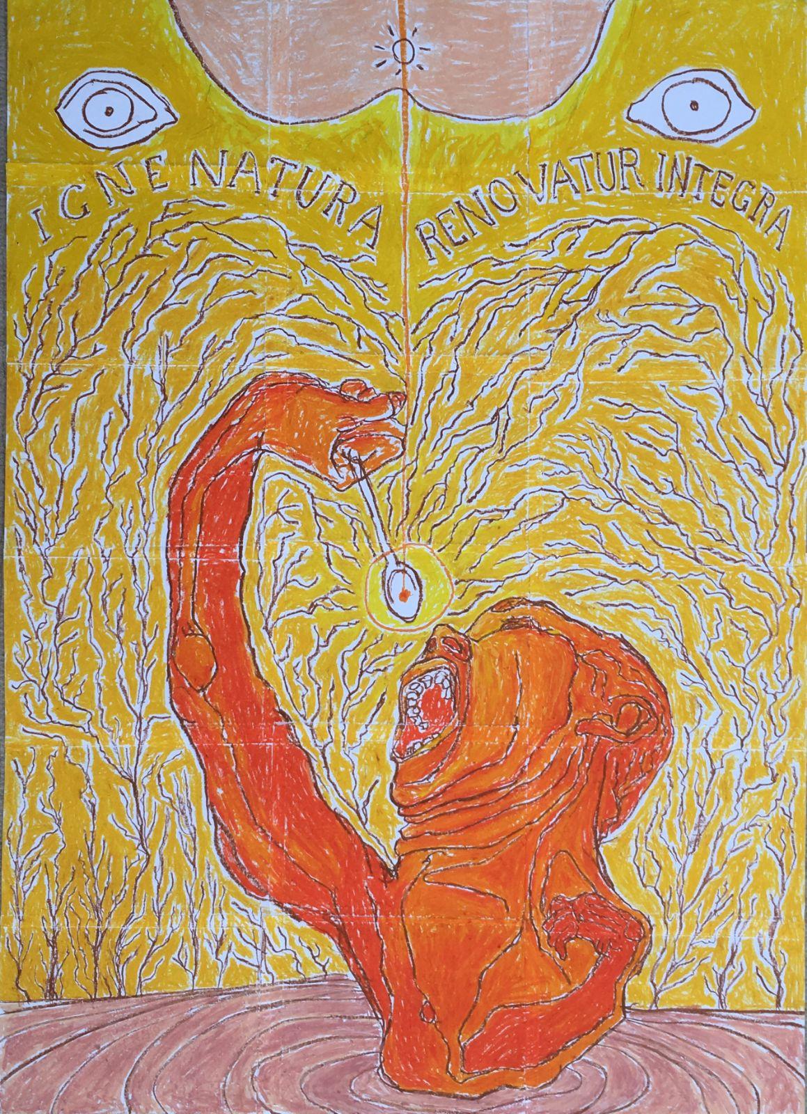 I.N.R.I, artwork by Vinicius Seraphim