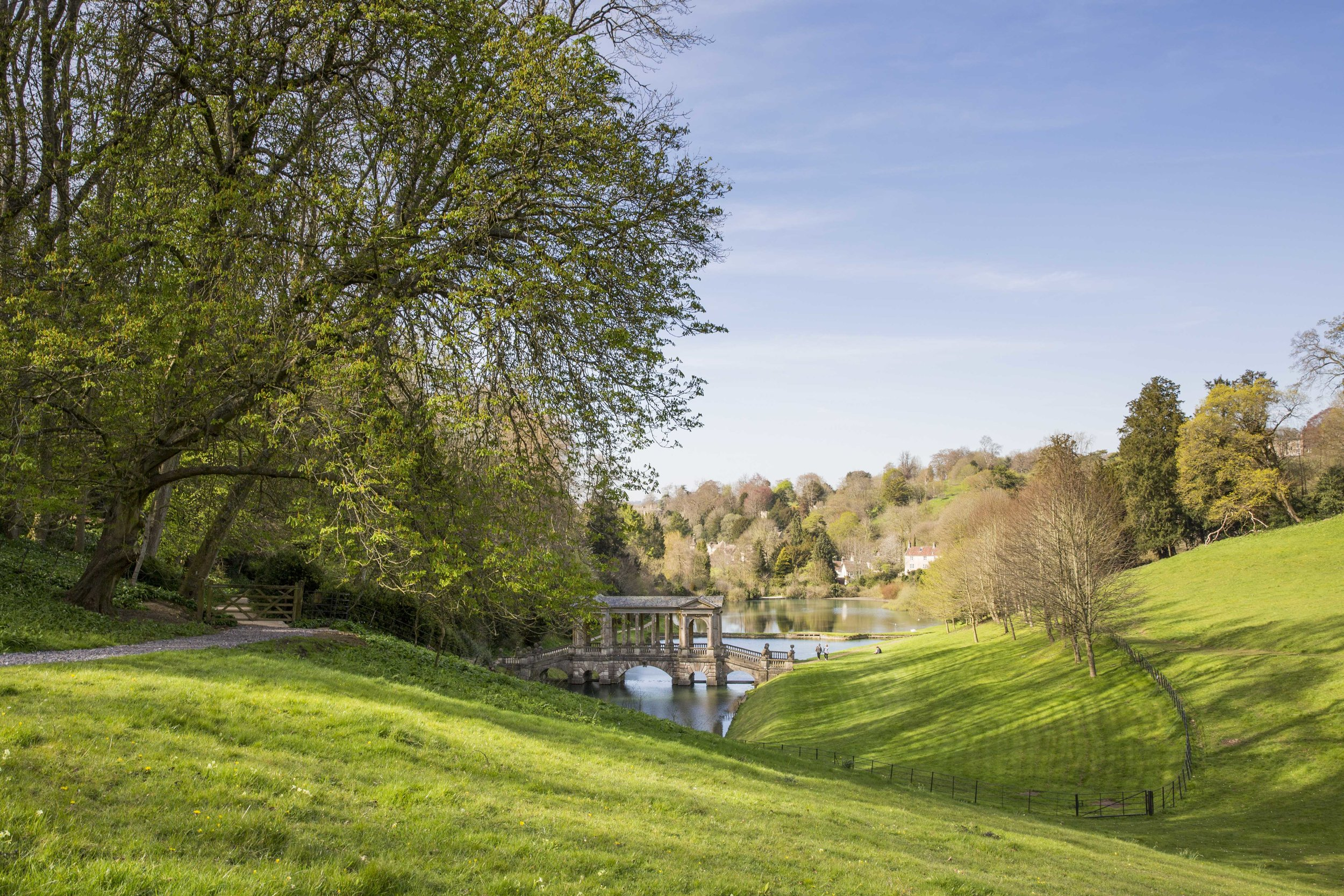 A view over the Palladian Bridge at Prior Park, Bath © National Trust Images / James Dobson