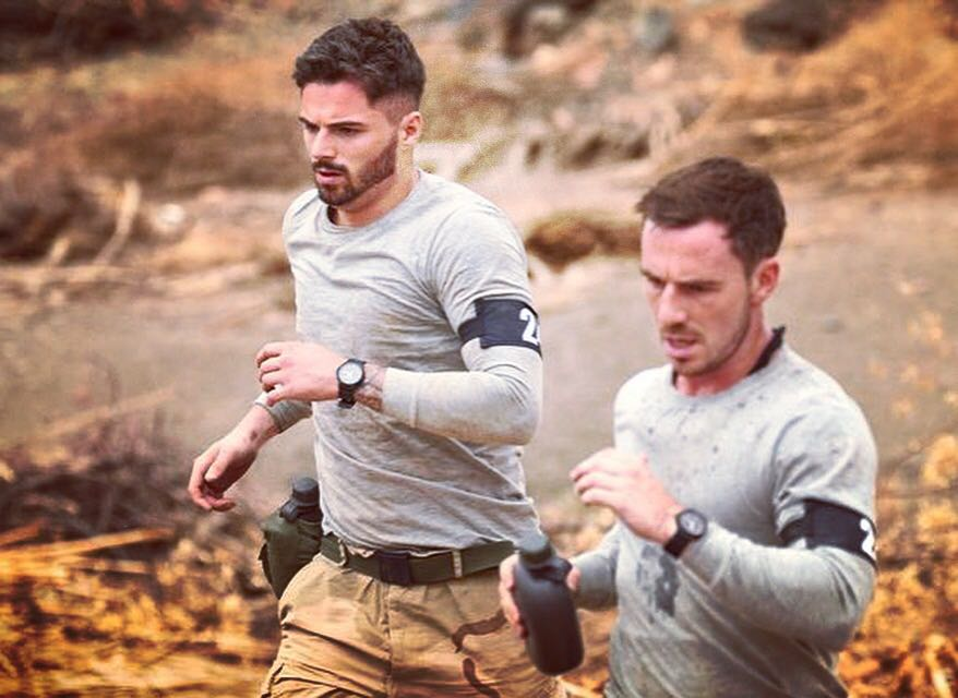 Glenn Mainwaring (right) in Channel 4's, SAS: Who Dares Wins