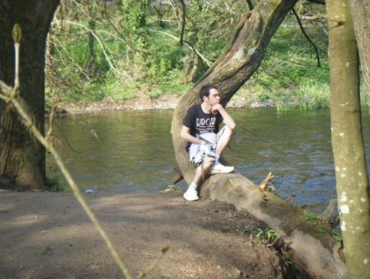 Chris during his college days in Devon