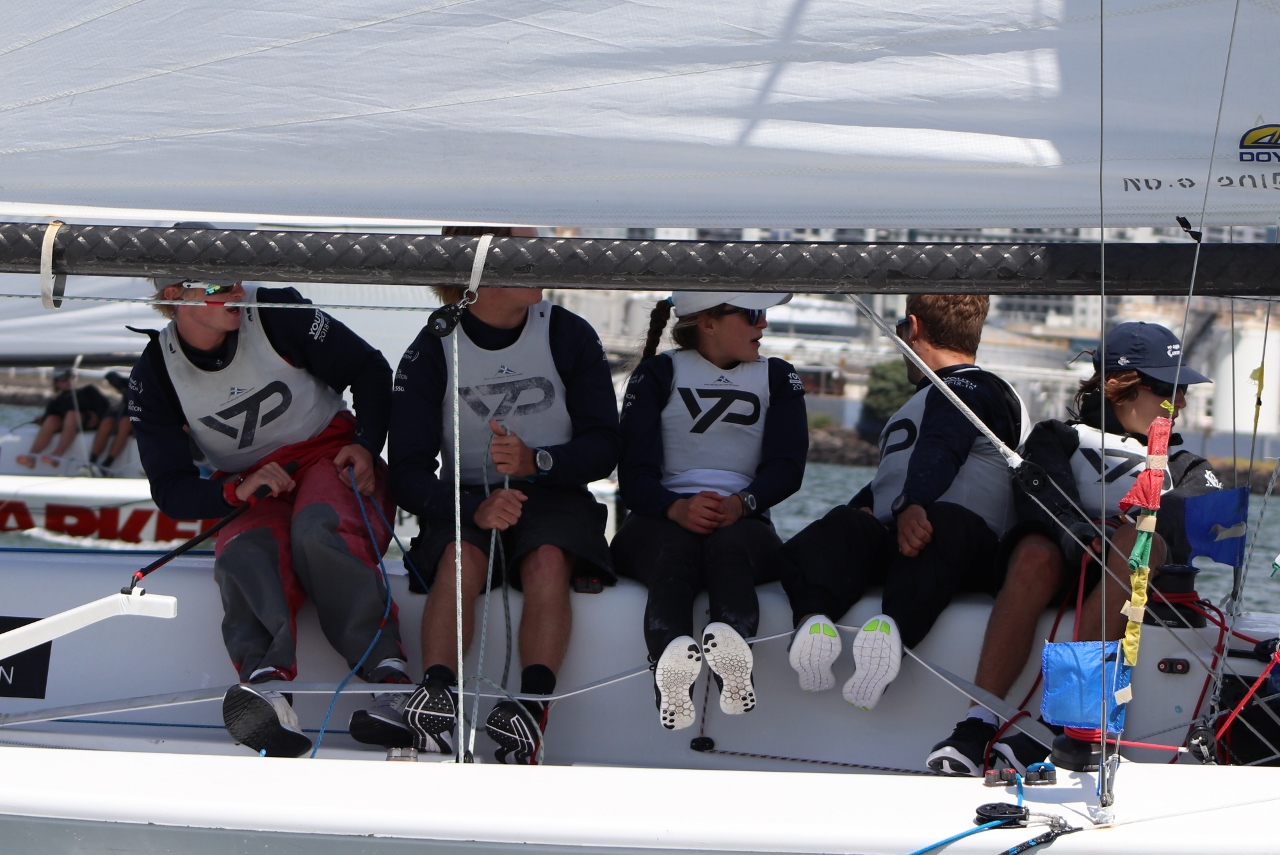 Stevenson and team - Nespresso Youth International Match Racing Cup - Andrew Delves.jpg