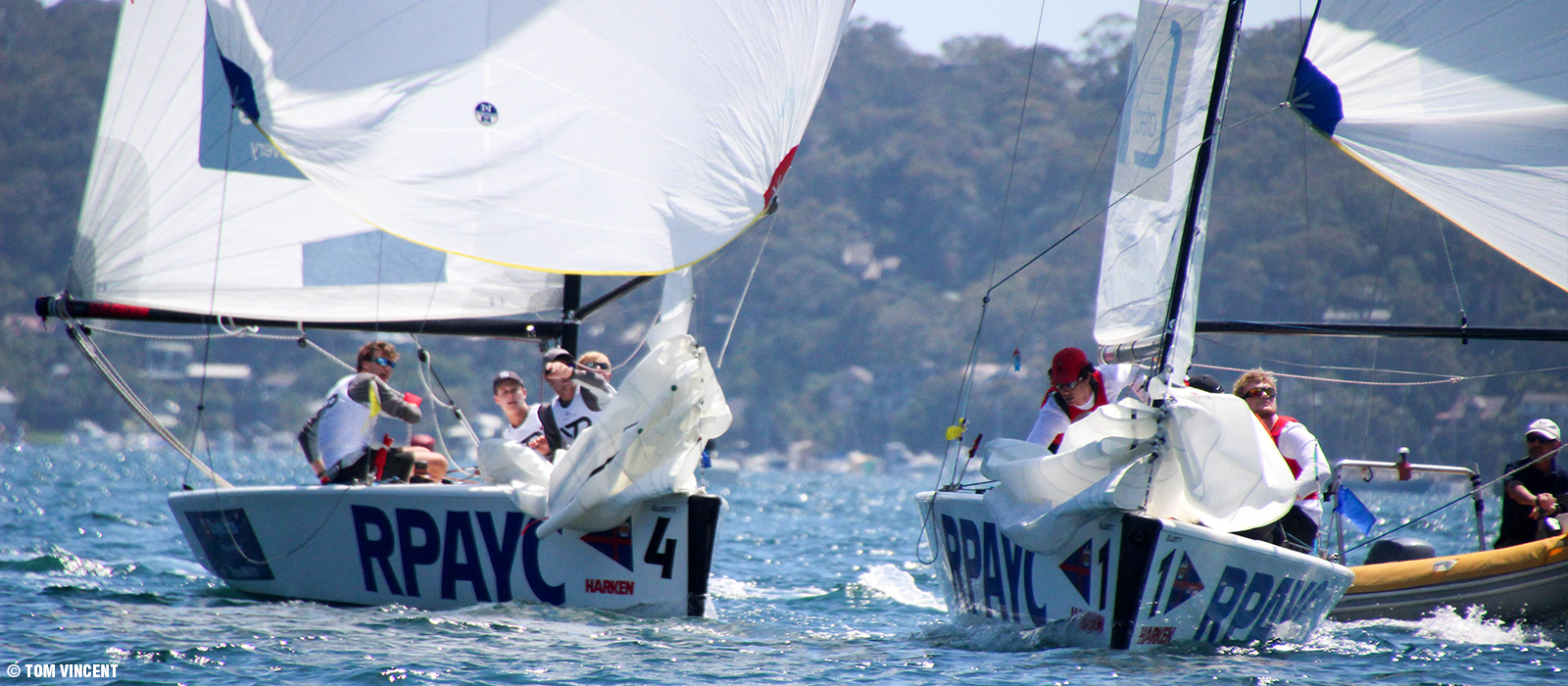 "26th HARKEN INTL. YOUTH MATCH RACING CHAMPIONSHIP - ""The Harken"" as it's known is one of the premier events for up and coming match racers. Racing for the Rockin' Robin Trophy begins on November 22nd at the Royal Prince Alfred Yacht Club in Sydney, Australia."