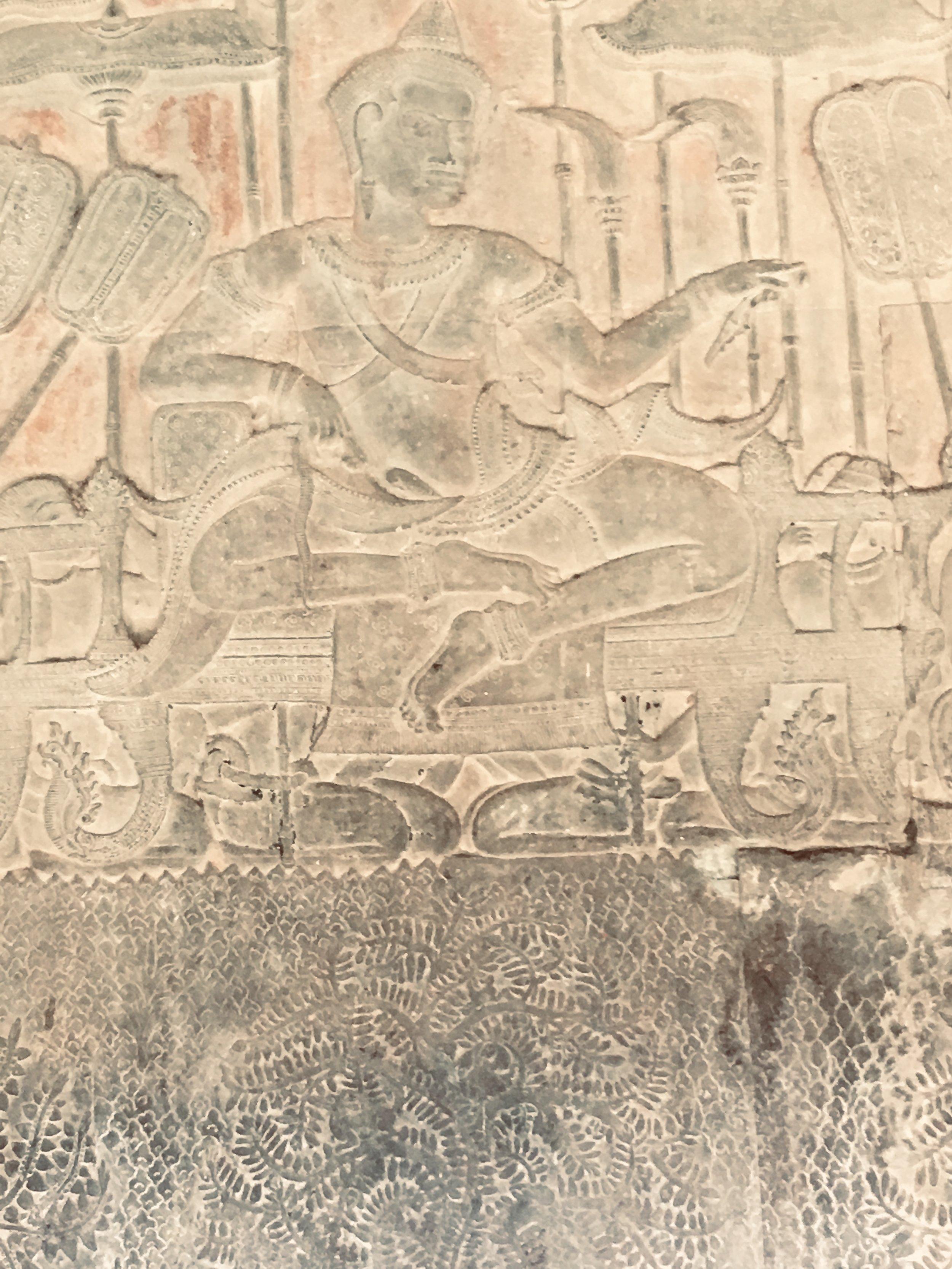 Sculpture of the builder of Angkor Wat, King Suryavaram II