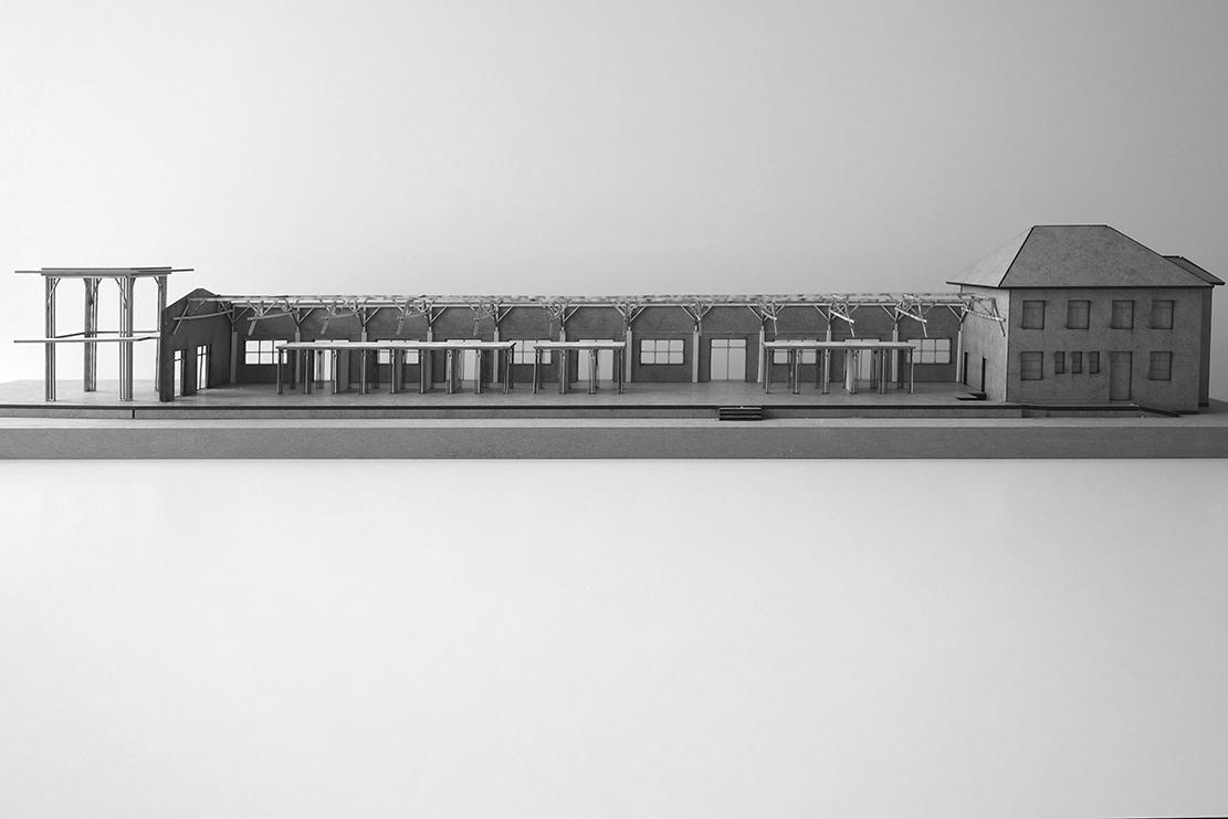 Zwischen den Holzboxen: Größere Räume als Foyer, Versammlungsraum, Treffpunkt…