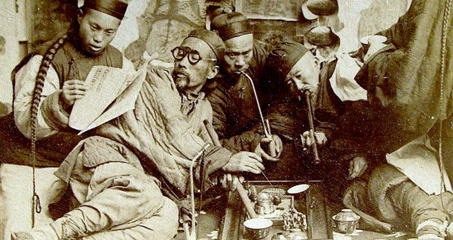 Chinese opium den vintage poster