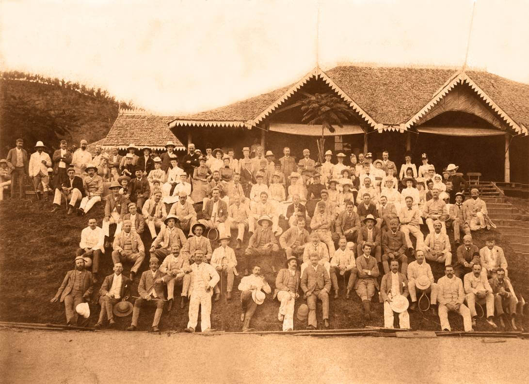 A group photograph found amongst Henry Randolph Trafford's possessions of the Darrawella Club from the 1880s