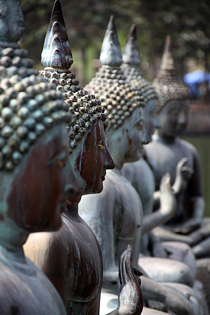 Seema Malaka, Colombo - detail of Buddha statues