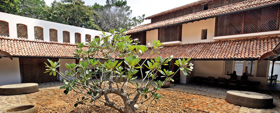 Ena de Silva's house, originally built in Colombo 1963, moved and re-built piece by piece at Lunuganga (finished in 2015)