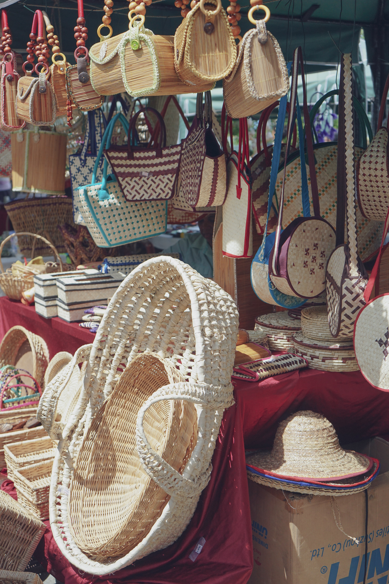 Colombo shopping guide - woven bags and baskets at Good Market
