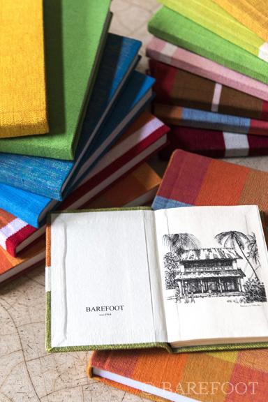 Barefoot handloom fabric journals