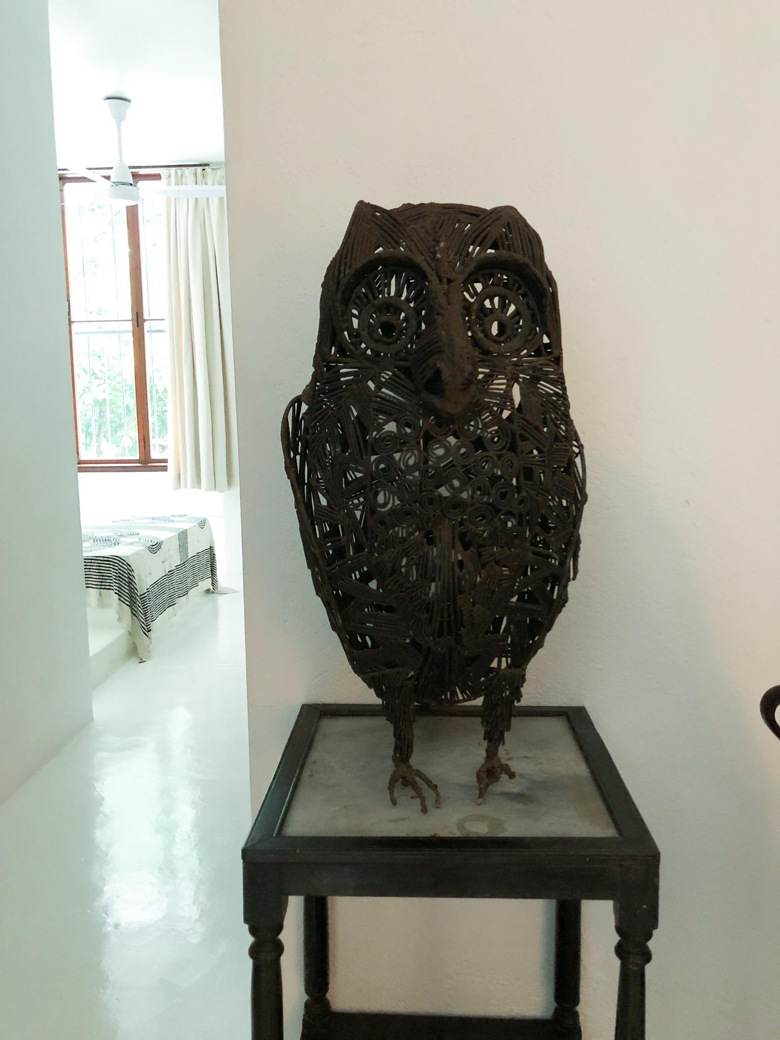 Bawa house: Laki Senanayake sculpture